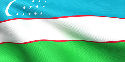 ウズベキスタン国旗 比率1:2