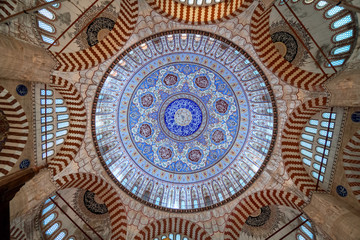 Dome of Selimiye Mosque in Edirne, Turkey Wall mural