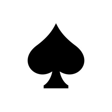 Playing card symbol spades Drawings icon, vector, logo