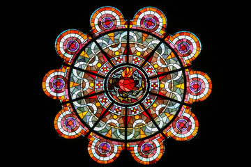 Sacred Heart of Jesus - Stained Glass in Sacre Coeur, Paris