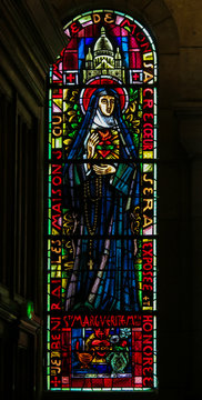St. Margaret Mary Alacoque - Stained Glass in Sacre Coeur