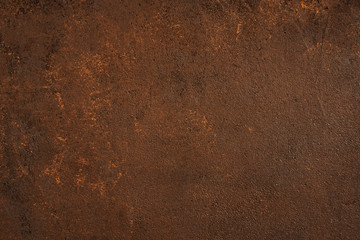 Dark brown textured surface with rust effect Wall mural