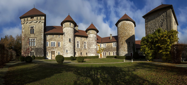Old medielval castle of Thorens in Haute Savoie in France.