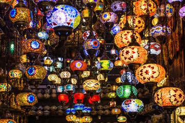 Turkish Colorful Lamps - Dubai Gold Souk Bazar