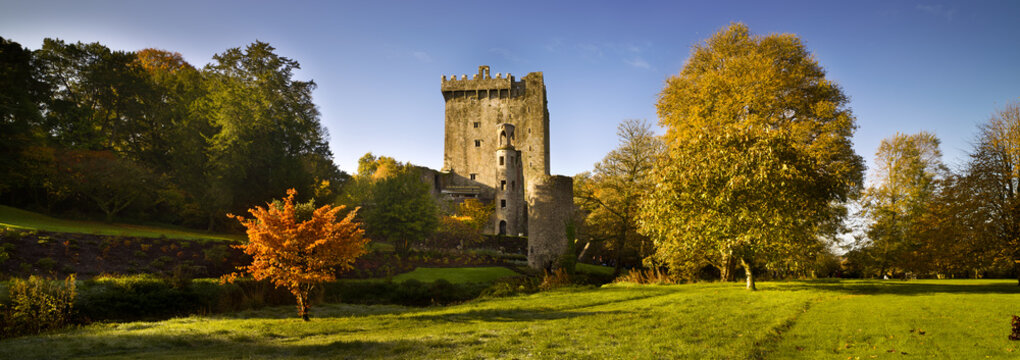 Blarney Castle Blarney, County Cork, Ireland, autumn, colorful panoramic view