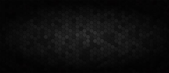 Fototapete - Black wide technology background