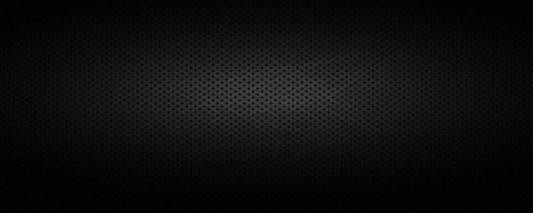 Fototapete - Wide black industrial background .