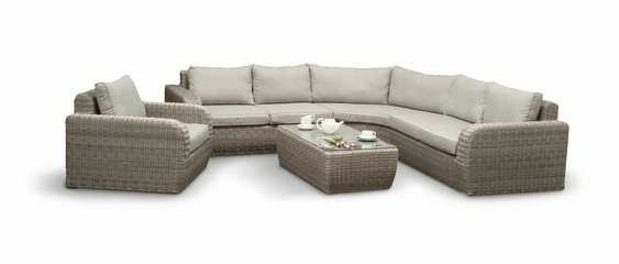 garden furniture on a white background