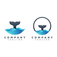 whale's tail logo package