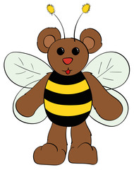 Bear in a Bumble Bee Costume