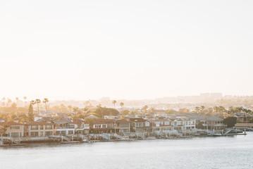 Wall Mural - View of Balboa Island from Lookout Point in Corona del Mar, Newport Beach, California