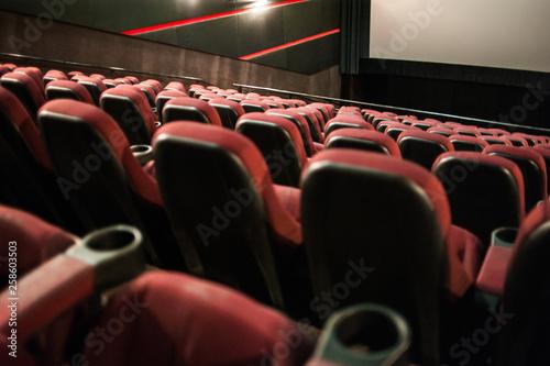 The cinema house  Inside  Mock up