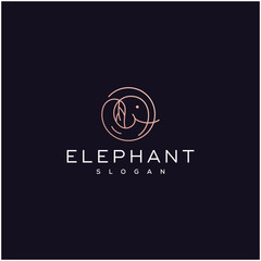 luxury elephant logo design
