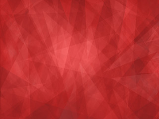 Red background with abstract angles and triangle layers in abstract geometric pattern for web and business designs