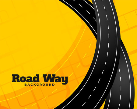 winding journey road trip background