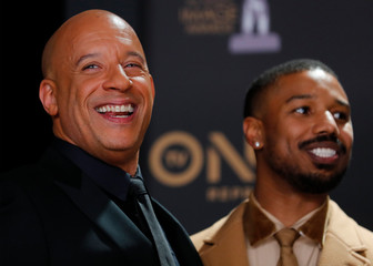 50th NAACP Image Awards – Photo Room– Los Angeles - Vin Diesel and Michael B. Jordan pose backstage