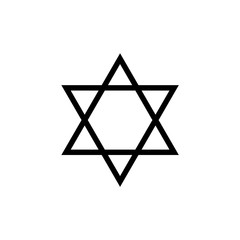 star of David. raster illustration