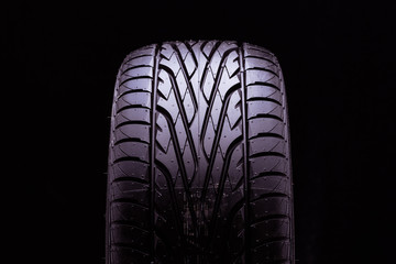 summer tires sport in black undeground