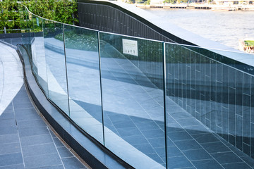 tempered laminated glass railing balustrade panels frame less ,safety glass for modern architectural buildings. Fototapete
