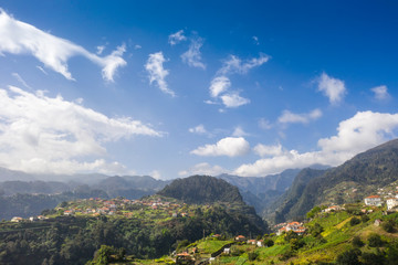 Fototapete - Scenic mountain landscape of Madeira island, Portugal, in summer.
