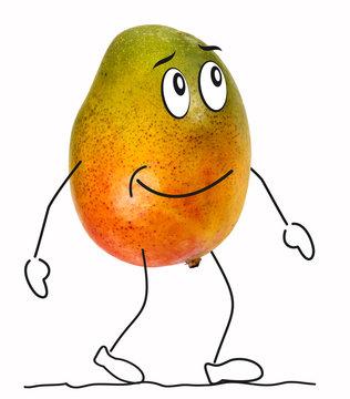 Mango with cartoon characters