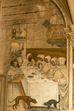 Frescoes in Abbey of Monte Oliveto Maggiore, Siena, Tuscany - Italy