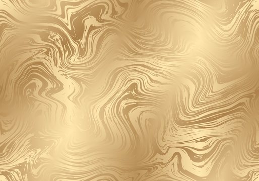 Vector seamless golden marble pattern. Abstract texture for your design.