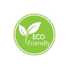 Eco icon. Eco friendly sign. Vector illustration, flat design. - fototapety na wymiar