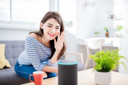 Smart AI speaker concept