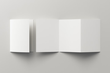 Blank trifold brochure booklet