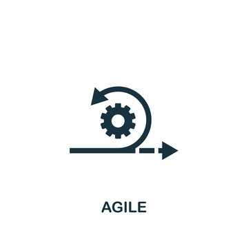Agile icon. Creative element design from content icons collection. Pixel perfect Agile icon for web design, apps, software, print usage
