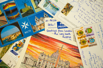 Travel postcards. Sentimental footages from different countries.
