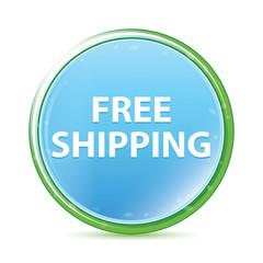 Free Shipping natural aqua cyan blue round button