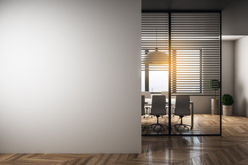 Fotomurales - Modern meeting room with blank copyspace