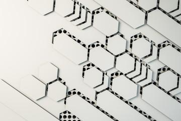 Creative white mosaic wallpaper