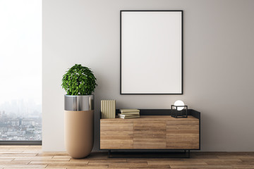 Modern interior design with poster