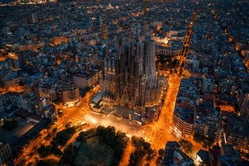 Fotomurales - Sagrada Familia aerial view