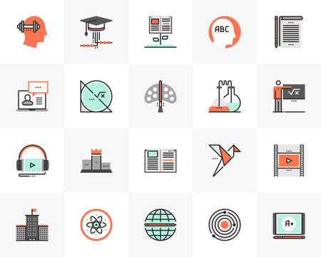 School Education Futuro Next Icons Pack
