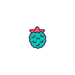 Rasberry icon design. Gastronomy icon vector design