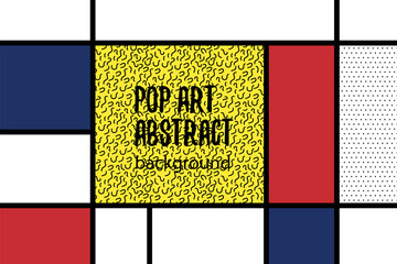 Pop art geometry mondrian style line back