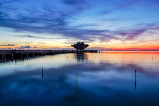 23 minutes before sunrise at St. Pete Pier, St. Petersburg, Florida