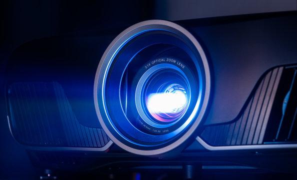 Closeup of projector