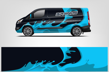 Fototapete - Van Wrap design for company, decal, wrap, and sticker. vector eps10 - Vector