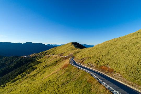Winding Road in Hehuanshan Mountains, Nantou Taiwan