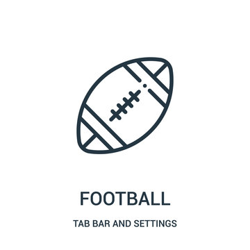 football icon vector from tab bar and settings collection. Thin line football outline icon vector illustration.