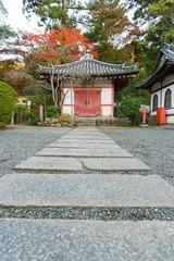 Fototapete - Historical building in Japanese temple in Kyoto, Japan