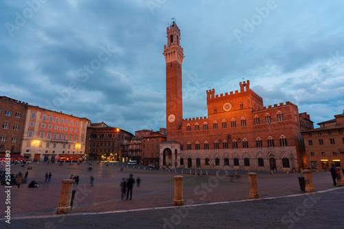 Fototapete Historical landmark city Siena, Tuscany, Italy