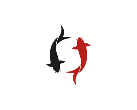 Koi fish logo vector icon
