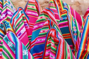 Typical aymara colorful clothing.