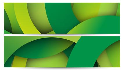 Obraz Zielone koła. Abstrakcyjne tło wektor - fototapety do salonu